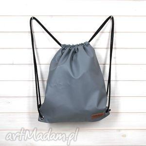 ręczne wykonanie plecaki worek plecak szary