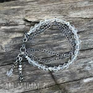 bransoletka z kryształem górskim, kryształ górski, kamienie naturalne