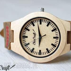 damski drewniany zegarek rhea, drewniany, damski, naturalny, skórzany, lekki