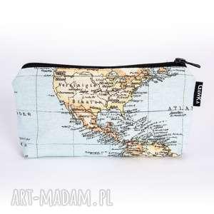 kosmetyczka duża z mapą, kosmetyczka, saszetka, atlas, mapa