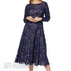 sukienki sukienka keteran, wzorzysta, midi, stylowa, eleganca, szyfonowa
