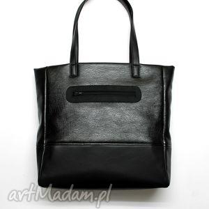 prezenty pod choinkę Shopper Bag - czarna, elegancka, nowoczesna, prezent, święta