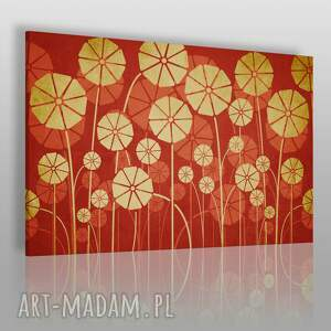 obraz na płótnie - kwiaty parasole 120x80 cm 56301, kwiaty, abstrakcja