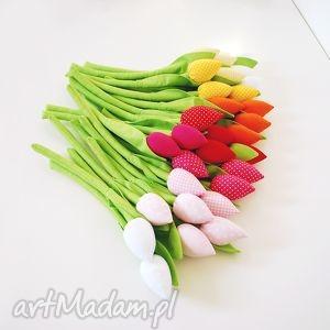Bukiet tulipanów, bukiet, tulipany, tulipan, szyty, bawełniany