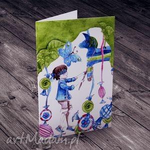 Piniata... karteczka urodzinowa, piniata, kartka, akwarela, urodziny, dziecko