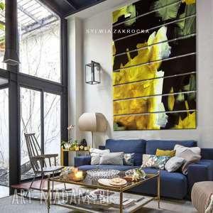 dekoracje kontrastowa abstrakcja - ogromny obraz wielkoformatowy 200x150cm