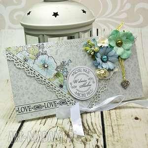 Prezent Kartka ślubna- wiosenne przebudzenie, ślub, ślubna, kartka, kopertówka