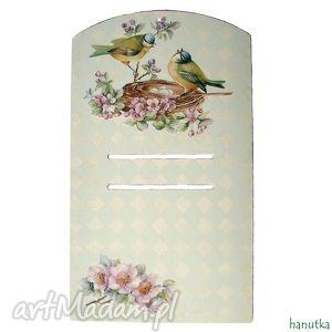 ptasie rozmowy - deseczka pod kalendarz, prezent, ptak, ptaszki, zawieszka
