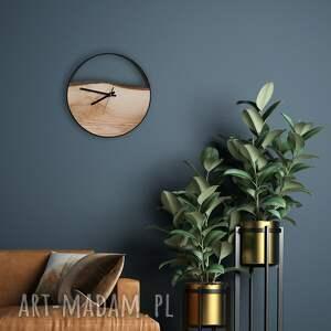 zegary zegar ścienny drewniany, hand made, czarny lub biały