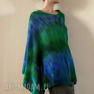 ręcznie wykonane swetry cudowne w dotyku ponczo z baby alpaki