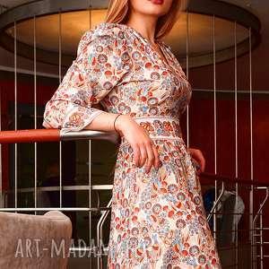 sukienka sofi wild birds, sukienki-como, sukienka-wzorzysta sukienki