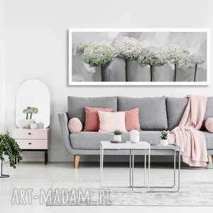 obraz drukowany na płótnie kwiaty hortensji -duży format 150x60 0355