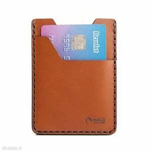 minimalistyczny portfel z naturalnej skóry, męski portfel, skórzany