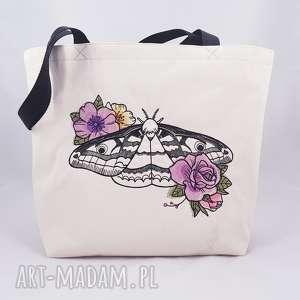 eko torba z haftem - ,eko,torba,shopperka,zakupowa,torebka,ćma,