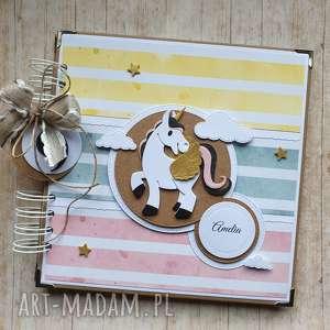 album - z tęczowym jednorożcem, jednorożec, koń, tęcza, unicorn, urodziny