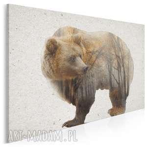 obraz na płótnie - niedźwiedź las 120x80 cm 27001, niedźwiedź, miś
