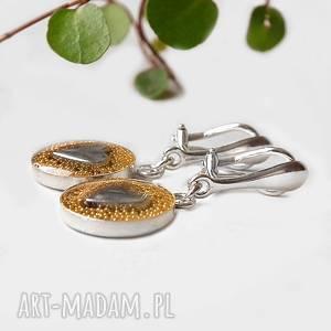 ręczne wykonanie klipsy niezwykłe i oryginalne srebrne z serduszkami