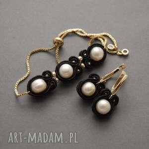 komplet biżuterii sutasz z perłami