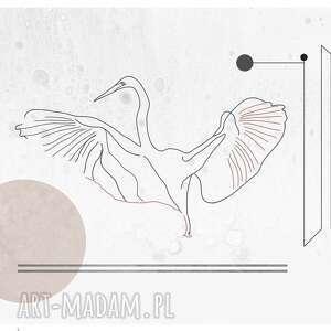 Plakat czapla heron white - 50x70 plakaty vimko czapla, ptaki