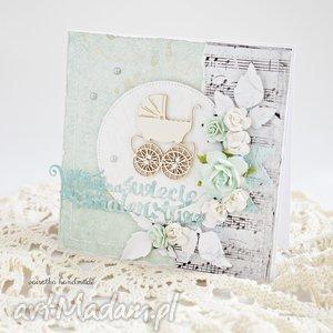 handmade scrapbooking kartki witaj na świecie maleństwo