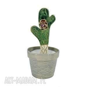 ceramika cukierniczka ceramiczna kaktus, cukierniczka, pojemnik