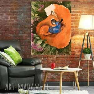 LISIE SNY obraz na bawełnianym płótnie 100x75cm artystki plastyka Adriany Laube