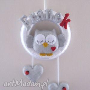 personalizowana girlanda z imieniem dziecka, girlanda, dekoracja, filc, sowa dla