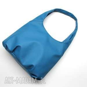 torba hobo - niebieska, elegancka, nowoczesna, pakowna, prezent, święta