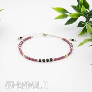 Bransoletka koralikowa Minimal - Rose, bransoletki, koralikowe, modna-biżuteria