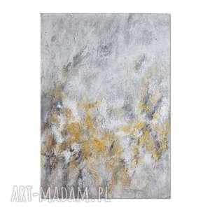 Golden sand, abstrakcja, nowoczesny obraz ręcznie malowany