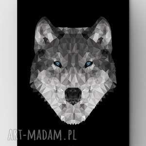 Wilk Black, wilk, black, plakat, grafika, poster, czarny