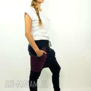 Spodnie GranatOve damskie - baggy pants S,M,L,XL, dresowe, ciążowe, yoga, dance, dres