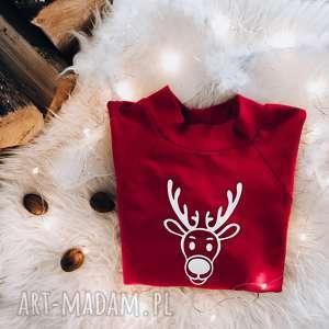 handmade pomysły na upominki świąteczne koszulka świąteczna bluzka dla dziecka renifer