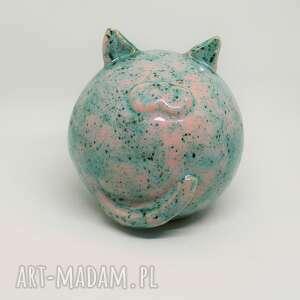 duży kot ceramiczny kula obw 45 cm piękny prezent ozdoba wnętrza handmade