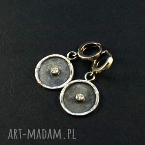 prezent na święta, surowe srebro, kolczyki, tylko ciemne srebro