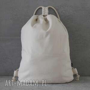 elkido handmade plecak city backpack - cream, plecak, spacer, rower, plaża, wakacje