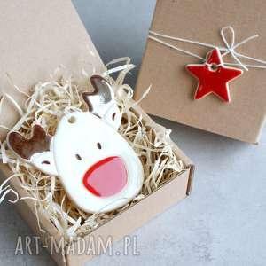 handmade pomysł na świąteczny prezent renifer zawieszka