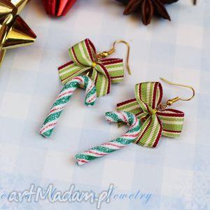 kolczyki świąteczne cukierki, kolczyki, świąteczne, święta, christmas