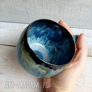 duży ręcznie robiony kubek kula 400ml, ceramiczny, duży