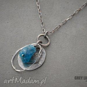 surowy apatyt - wisiorek - srebro, 925, organiczna, biżuteria, apatyt, surowy