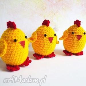 zestaw 3 kurczaczków wielkanocnych, kurczak, kurczaczek, wielkanoc, pisanka