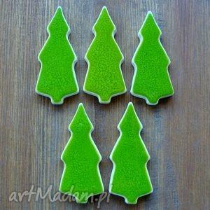 handmade prezenty świąteczne las iglasty - magnesy ceramiczne