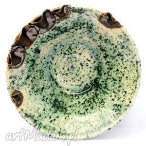 ceramika ceramiczna miseczka - liściasta nr 113 , miska, naczynie, ceramika, użytkowe
