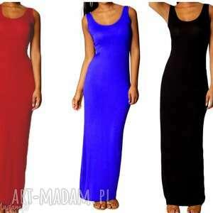 Długa Sukienka Boho, długa, letnia, przewiewna, sukienka, ramiączkach