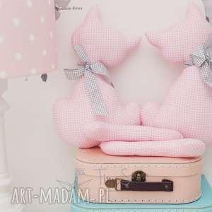 hand made pokoik dziecka przytulanki koty maja i milan (różowy)