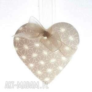 zawieszka porcelanowa serce - święta, dekoracja, porcelana