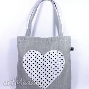 na zakupy siatka-zakupówka 16 , siatka, torba, eko, serce, zakupy, bawełna