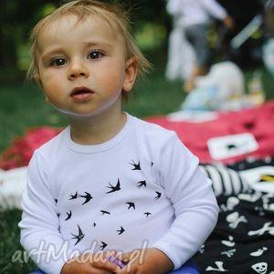 handmade ubranka body dla dzieci i niemowląt z długim rękawem - ptaki