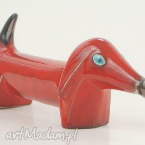 ręcznie robione ceramika pies na biżuterię