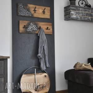 wieszaki ścienne loft z xix-wiecznej deski, drewno, deski, wieszaki, vintage